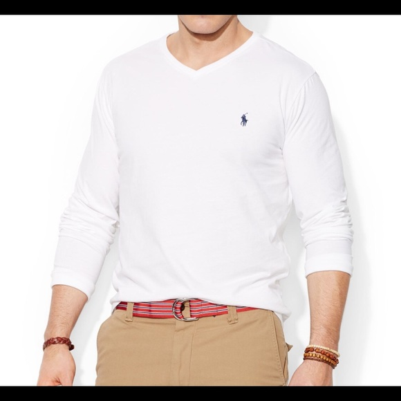 ralph lauren long sleeve v neck t shirt